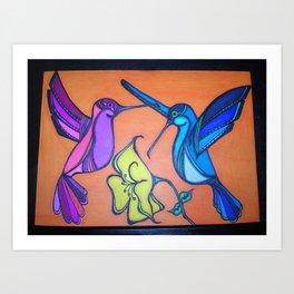 Hummingbirds Sequel Art Print