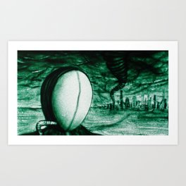 Green Hurricane Art Print