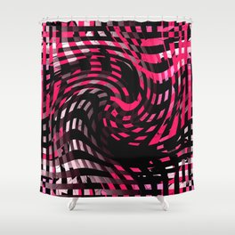 Abstract Graphic Pink Neon Shower Curtain