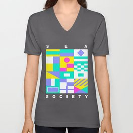 Sea Society (dark) Unisex V-Neck