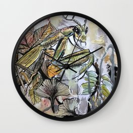 Peace, mantis Wall Clock