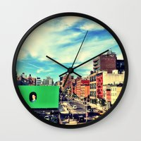 chelsea Wall Clocks featuring Chelsea, NYC by Bolu By Rima