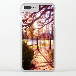 Sunset thru Church Gate at Rugby Clear iPhone Case