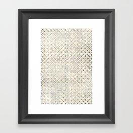 gOld grid Framed Art Print