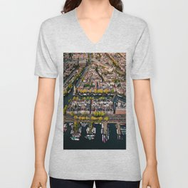 Amsterdam Houseboats & Canals Unisex V-Neck
