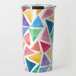 Watercolor Pattern Travel Mug