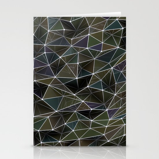 Abstract Digital Waves Stationery Cards