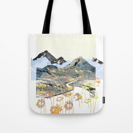 Daisy Mountain - Art Collage Tote Bag
