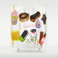 android Shower Curtains featuring android  by leonov andrew