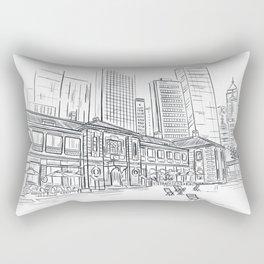 Hong Kong Tai Kwun Sketching Rectangular Pillow