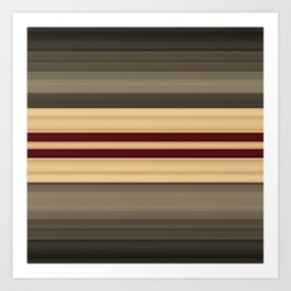 Rich Gold Burgundy Stripes Art Print