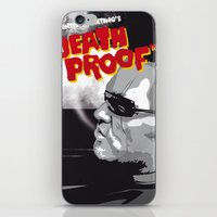 mike wrobel iPhone & iPod Skins featuring Stuntman Mike by Lorenzo Imperato
