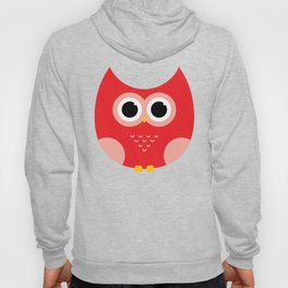 Seamless Modern Owl on Red Hoody