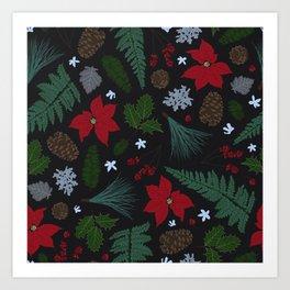Winter Greens  Art Print