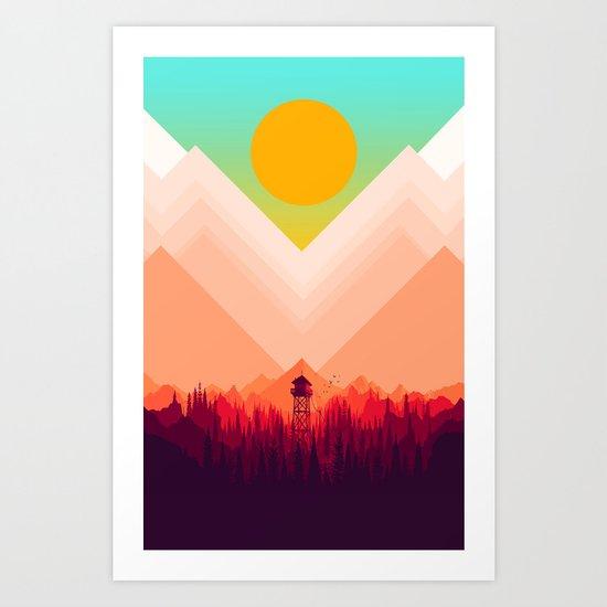 Summer Nature Art Print