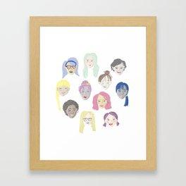 Beautiful Lady Faces Framed Art Print