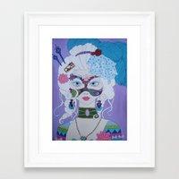 marie antoinette Framed Art Prints featuring Marie Antoinette by Keith Loves Geisha
