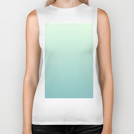 Color gradient 4. Green.abstraction,abstract,minimalism,plain,ombré Biker Tank