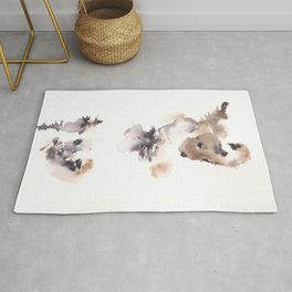 The Dancer - 151124  Abstract Watercolour Rug