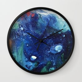 Bright Ocean Life, Tiny World Collection Wall Clock