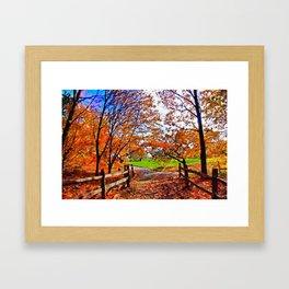 Autumn Walkway Framed Art Print