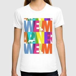 WEIMARANER COLOURS 2 T-shirt
