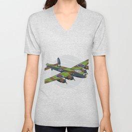 Lancaster Bomber Unisex V-Neck