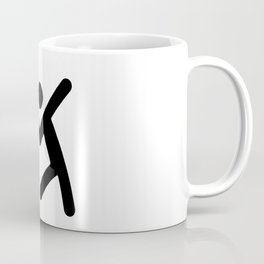 Badminton Stickfigure Coffee Mug