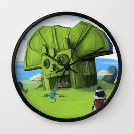 The Wastelands Godhead rest stop Wall Clock