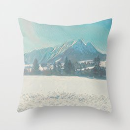 Winterly Landscape IV Throw Pillow