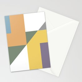 Geometric Trendy Abstract Modern Art Design Stationery Cards