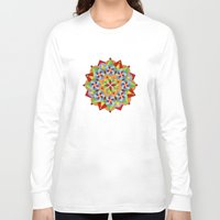 manchester Long Sleeve T-shirts featuring Manchester Mandala  by Patricia Shea Designs