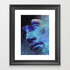Strange Face Framed Art Print