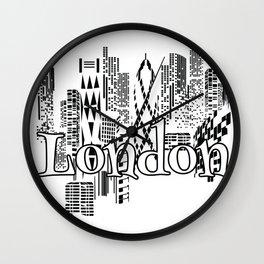 London Town graphic logo Wall Clock