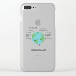 Wonders of the world Clear iPhone Case
