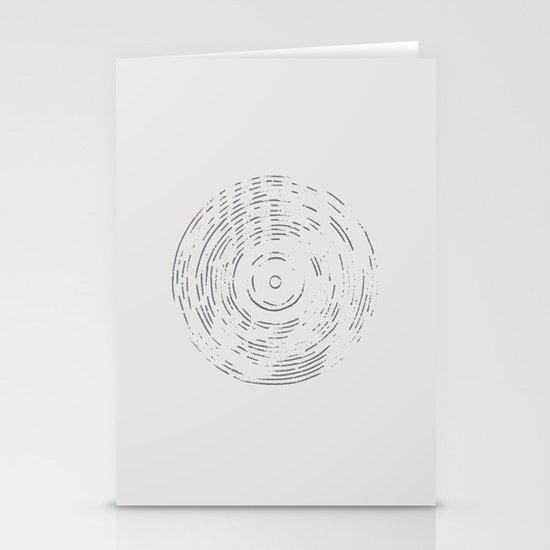 Record Black and White Stationery Cards