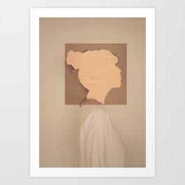 Paper portrait Art Print