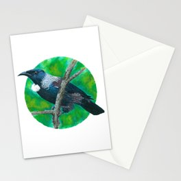 New Zealand Tui - Painting in acrylic Stationery Cards
