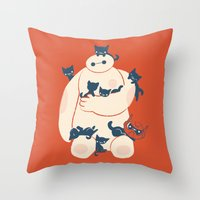 kittens Throw Pillows featuring Kittens! by Jay Fleck