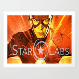 The Star Of Star Labs Art Print
