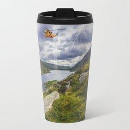 Snowdonia Helicopter Mountain Resuce Travel Mug