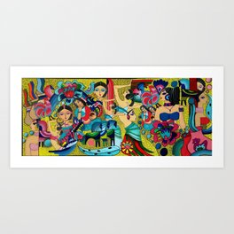 Multinational folklor Art Print