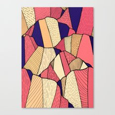 The pattern of hills Canvas Print