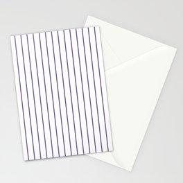 Modern Minimalist Design Vertical Striped Pattern White & Ultra Violet Stationery Cards