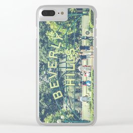 Beverly Hills Sign - Vintage Clear iPhone Case