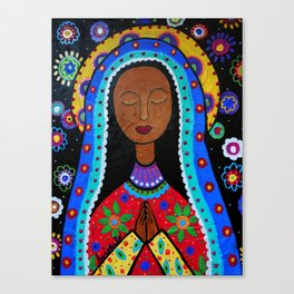 Mexican Folk Art Virgin Guadalupe Painting Canvas Print