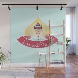 Dessert Please! (Blue) Wall Mural