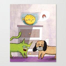 Yo, What About a Magnet? Canvas Print