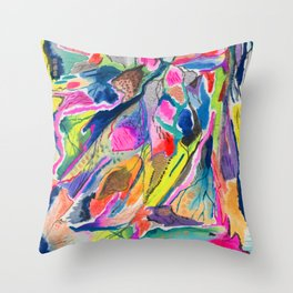 Fluorite Mineral Microscope Throw Pillow