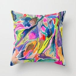 Fluorite Mineral Microscope Throw Pillow